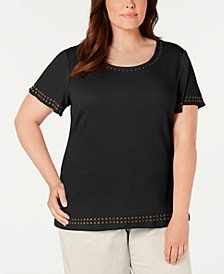 Plus Size Studded Top, Created For Macy's