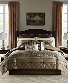 Zara King 16 Piece Jacquard Complete Bedding Set With 2 Sheet Sets