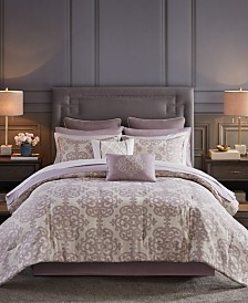 Madison Park Essentials Madeline King 16 Piece Jacquard Complete Bedding Set with 2 Sheet Sets