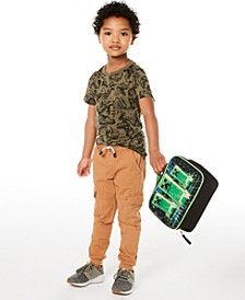 Toddler Boys Dino T-Shirt & Stretch Twill Cargo Joggers, Created for Macy's