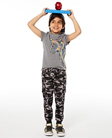 Toddler Boys Painted Tiger T-Shirt & Stretch Camouflage Twill Cargo Joggers, Created for Macy's