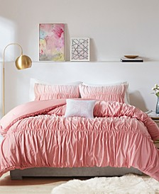 Ellen Ombre and Ruched Comforter Set