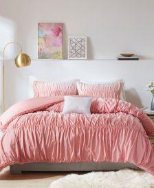 Ellen Full/Queen 4-Pc. Ombre and Ruched Comforter Set