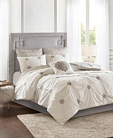 Malia Embroidered Cotton Reversible Comforter Sets