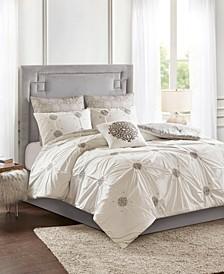 Malia Embroidered Cotton Reversible Comforter Sets