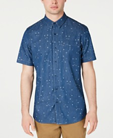 American Rag Men's Denim Star Shirt, Created for Macy's