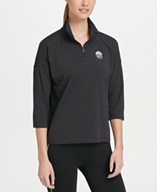 DKNY Sport Mock Neck Half-Zip Top