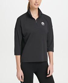 DKNY Sport Mock Neck Half-Zip Top, Created for Macy's