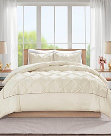 Laurel Full/Queen 3 Piece Tufted Duvet Cover Set