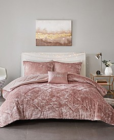Felicia Full/Queen 4-Pc. Velvet Comforter Set