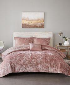 Felicia Full/Queen 4-Pc. Velvet Comforter Set