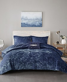 Intelligent Design Felicia Full/Queen 4-Pc. Velvet Comforter Set
