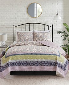 Madison Park Piper 3-Pc. Reversible Printed Coverlet Sets