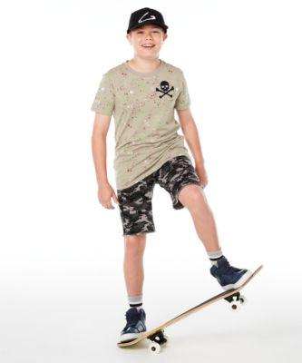 Big Boys Skull Splatter T-Shirt, Created for Macy's