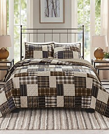 Timber King/California King 3-Pc. Reversible Printed Coverlet Set