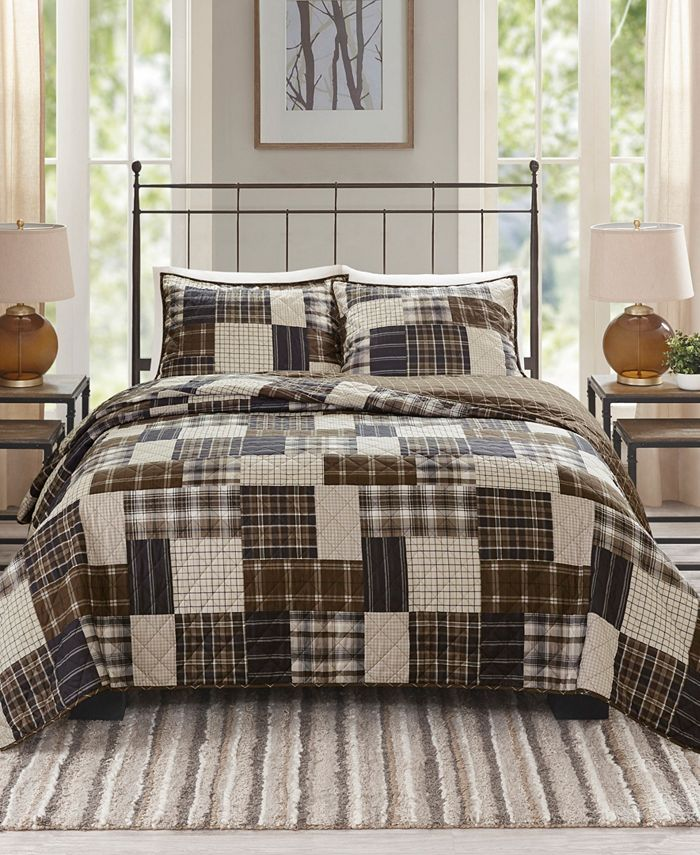Madison Park - Timber 3-Pc. Reversible Printed Coverlet Sets