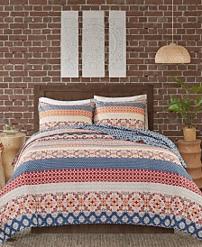 Madison Park Vixen Full/Queen 3 Piece Reversible Printed Coverlet Set