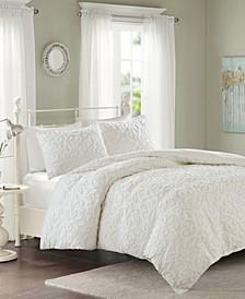 Sabrina 3-Pc. Tufted Cotton Chenille Duvet Cover Sets