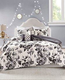 Intelligent Design Dorsey Full/Queen 5 Piece Floral Print Comforter Set