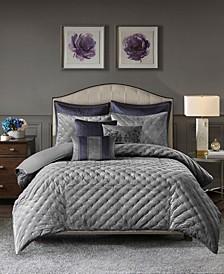 Sophisticate Queen 8 Piece Velvet Comforter Set