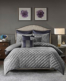 Madison Park Signature Sophisticate Queen 8 Piece Velvet Comforter Set