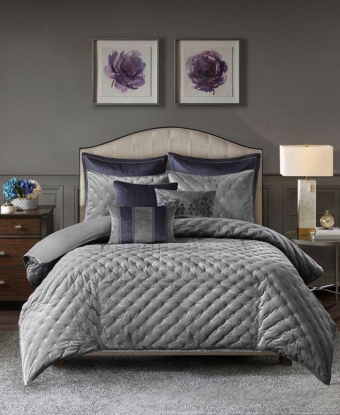 Madison Park Signature - Signature Sophisticate 8-Pc. Velvet Comforter Sets