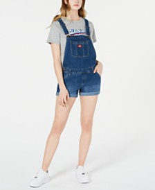 Dickies Rolled Denim Shortalls