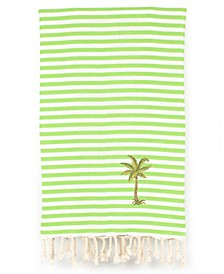 Fun in the Sun Breezy Palm Tree Pestemal Beach Towel