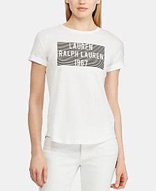 Lauren Ralph Lauren Graphic-Print Logo Cotton T-Shi
