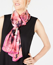 I.N.C. Watercolor Rose Oblong Scarf, Created for Macy's