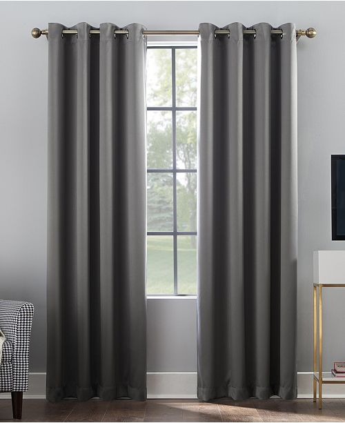 "Sun Zero CLOSEOUT! Oslo 52"" x 84"" Theater Grade 100% Blackout Grommet Curtain Panel"