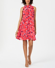 Robbie Bee Petite Printed Shift Dress
