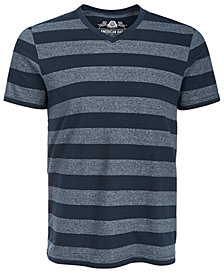 American Rag Striped V-Neck T-Shirt, Created for Macy's