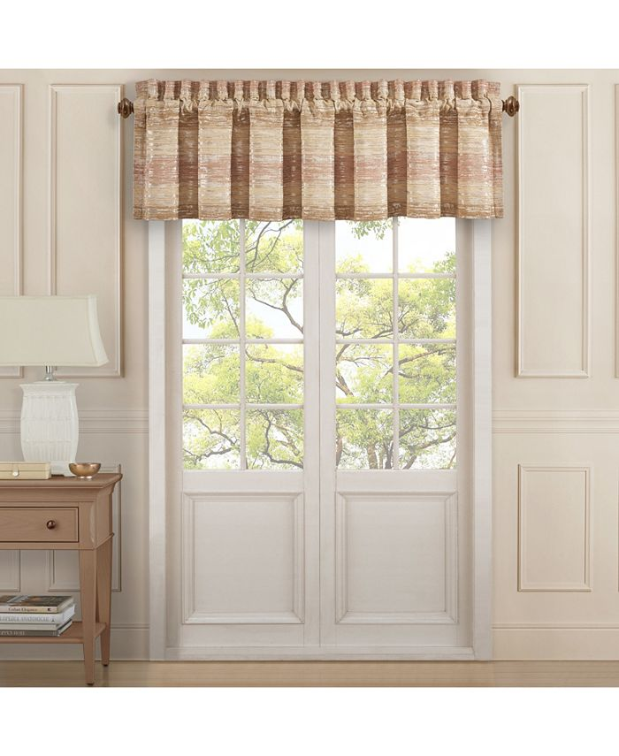 J Queen New York - Sunrise Coral Straight Valance