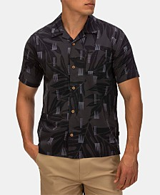 Hurley Men's Sig Zane Maloulu Printed Camp Shirt
