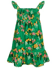 Little Girls Smocked Floral-Print Dress, Created for Macy's