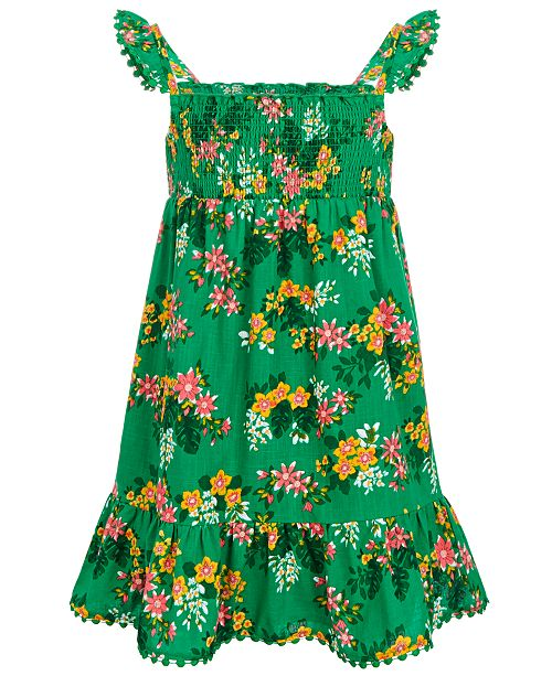 Epic Threads Toddler Girls Smocked Floral-Print Dress, Created for Macy's