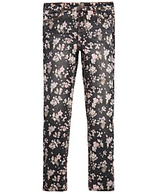 Big Girls Floral-Print Skinny Jeans, Created for Macy's