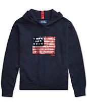 122232812faa6 Polo Ralph Lauren Big Girls Sequin-Flag Cotton Sweater