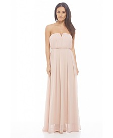 AX Paris Chiffon Pleat Front Plain Maxi Dress