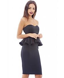 AX Paris Sweetheart Peplum Midi Dress