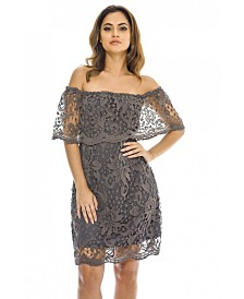 AX Paris Off Shoulder Lace Mini Dress