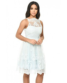 AX Paris Lace Detail Dress with Full Skirt