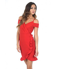 AX Paris Cold Shoulder Wrap Mini Dress