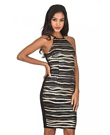 AX Paris Stripey Sequin Dress