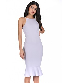 AX Paris Bodycon Midi Dress with Frill Hem