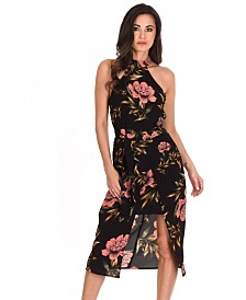 AX Paris Floral Wrap Over Skirt Dress