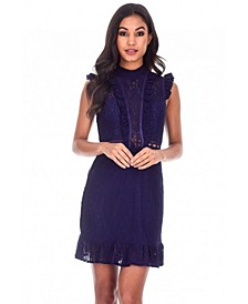 Lace Frill Detail Dress