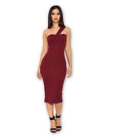 One Shoulder Strap Midi Dress