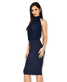 Ruched Front Halter neck Dress